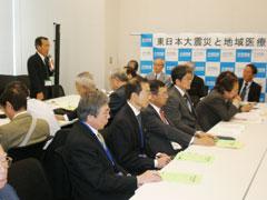 国会行動 東日本大震災支援 地元議員らに要請