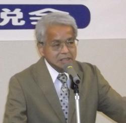 「田中知事実現で県政の転換を」  吉岡副理事長が応援演説