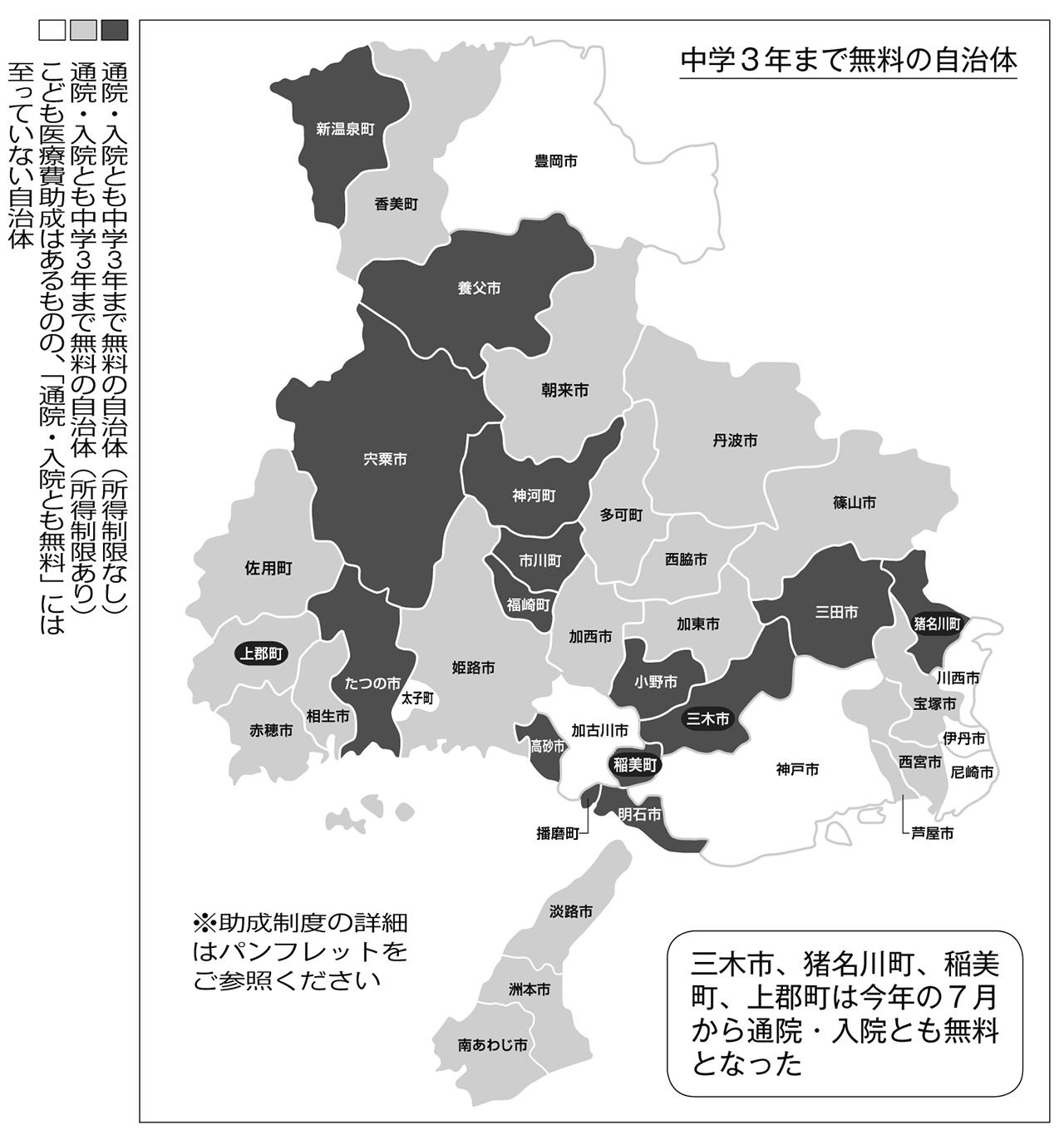 通院・入院とも中3まで無料 自治体の8割に広がる 協会調査<br/>全市町、全国に広げていこう